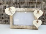 Shabby personalised Chic Photo Frame In Memory Of A Brother Or Any Name Friend - 253965454024